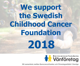 We support the Swedish Childhood Cancer Foundation
